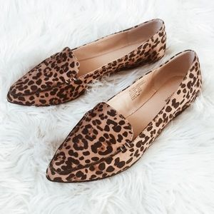 Shoes - leopard cheetah animal print flats! ( loafer mule)